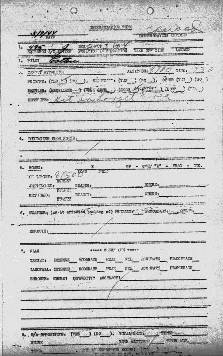 B0294 p86 Sept 5, 1944 Debrief Cotton Cirrincione