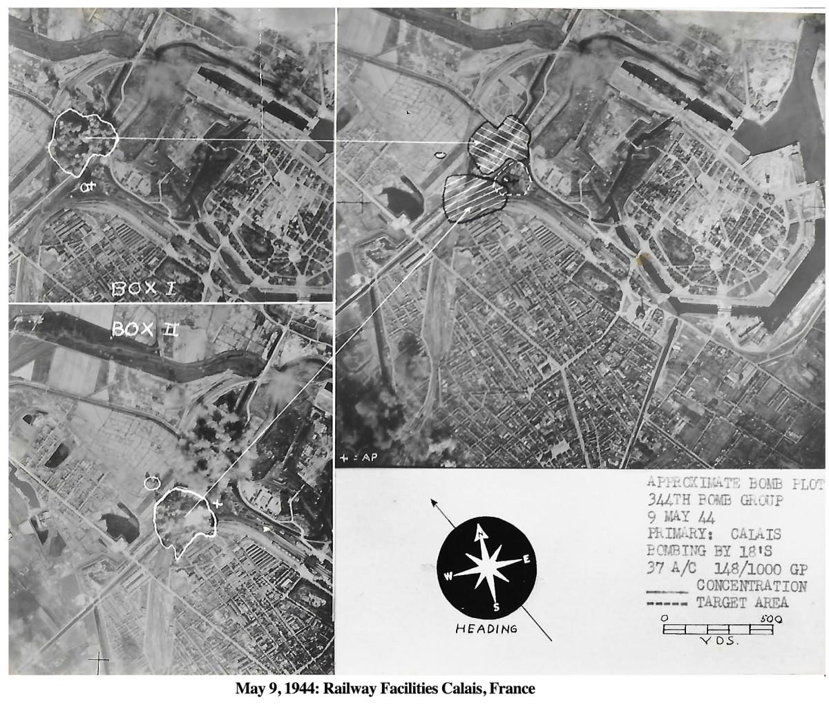 344Bomb May 9, 1944 Calais