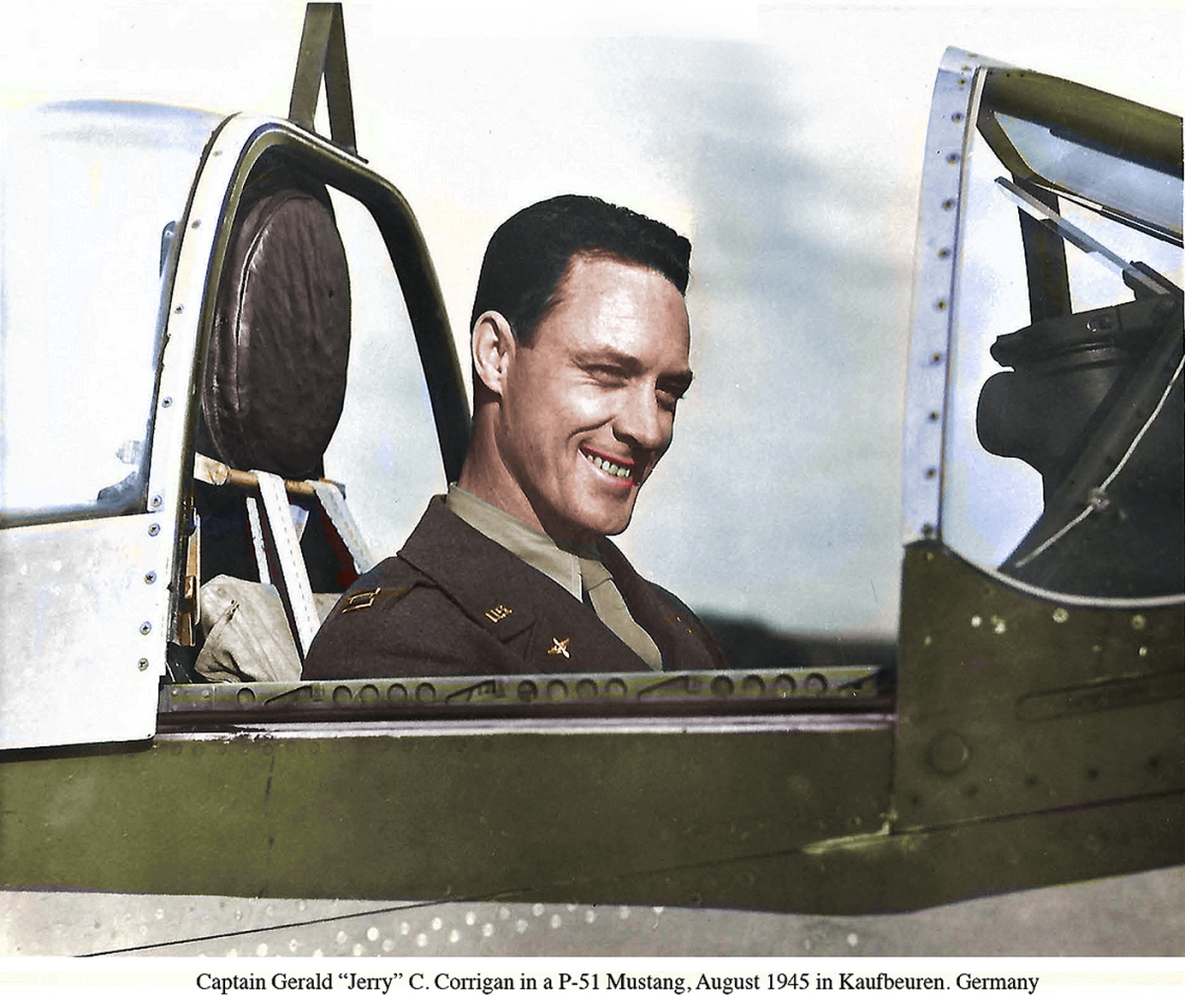 Corrigan in P-51 Colorized