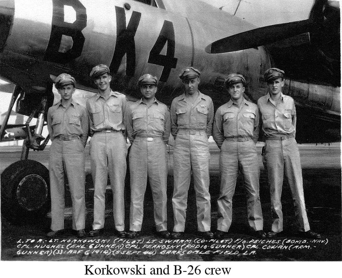 Korkowski and B-26 crew