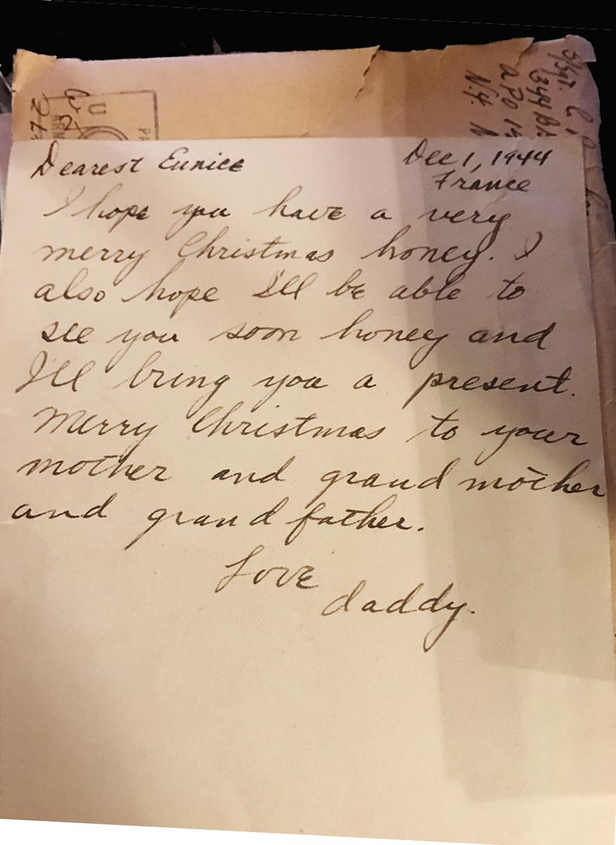 Lt. Brooker daughter letter
