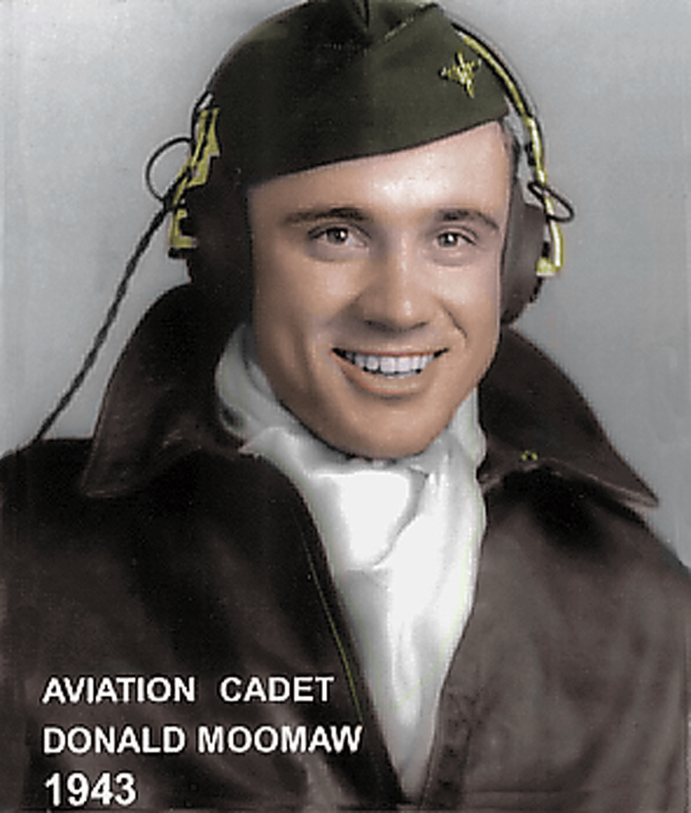 Aviation Cadet Moomaw Colorized