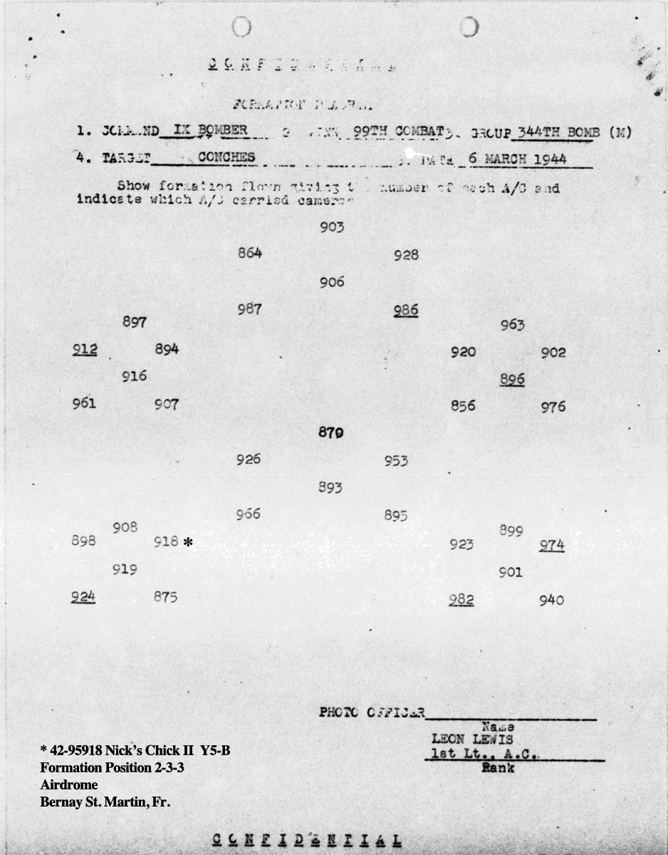 B0286 p578 March 6, 1944 Formation Hasey