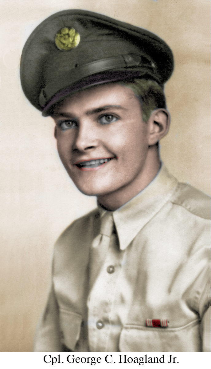 George Hoaland in uniform Colorized