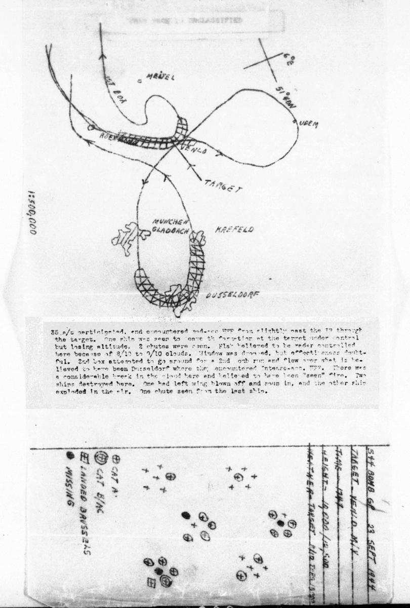 B0294 p1165 Map Sept 23, 1944 Carrington-Martin