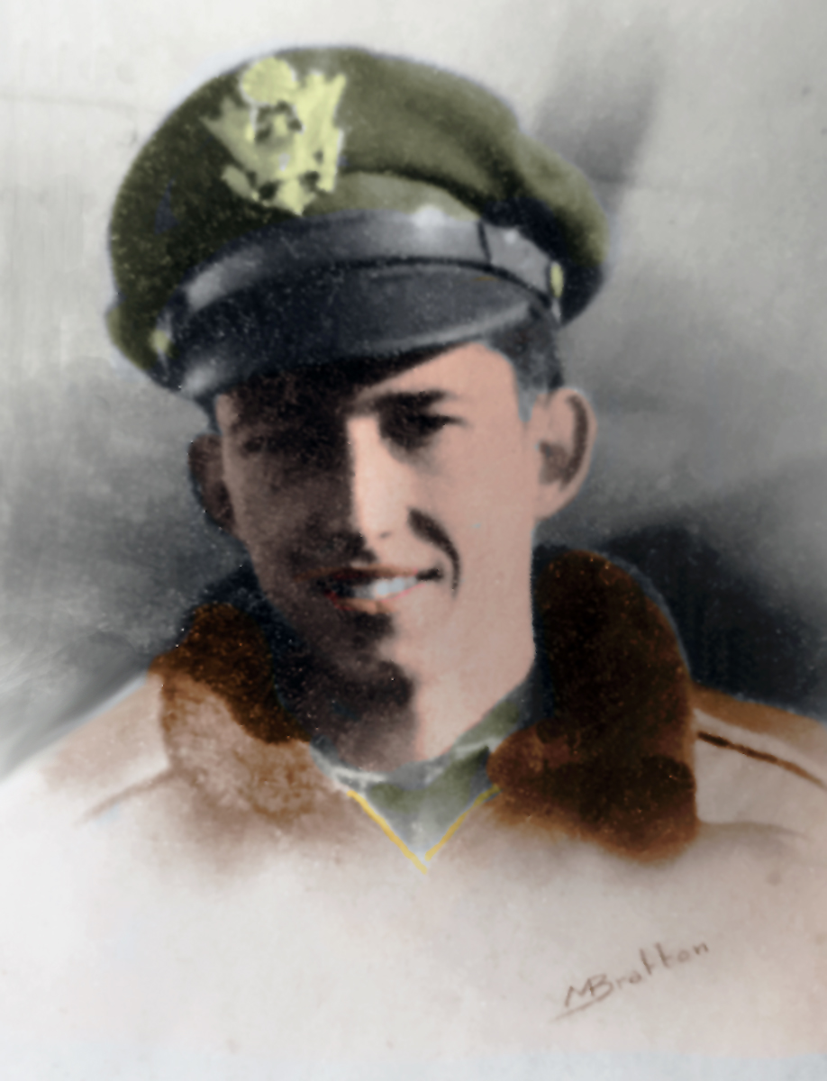 nd Lt. Mark Pritchard Bratton Colorized by Carrozza