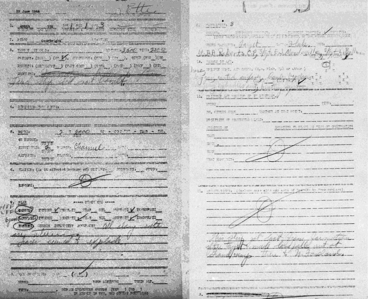 B0291 p998 June 29, 1944 Debrief Courtright