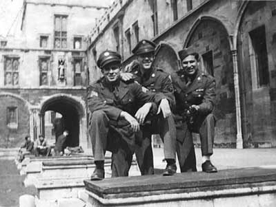 L-R James E. Smith, (Gus)Marinelli, (Mac) McCarter at Westminster abby
